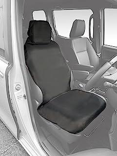 NSTILE by NAPOLEX 车用 防水&泼水车座套 座椅带一体型座椅也可使用 带便利的收纳袋 安装简单 可将座椅上用拉链固定在即可 从轻型汽车到小型车货车均可使用 前排/后排通用 NST-3 黑色