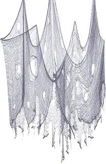 SUNTRADE 万圣节恐怖衣服,幽灵万圣节装饰户外派对用品装饰,适合家庭和户外派对用品和装饰,5.72 x 34.29 厘米 2.3x13.1FT 灰色