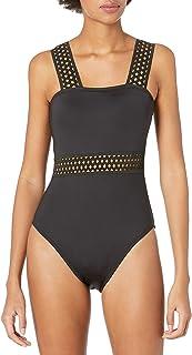 Kenneth Cole New York 女式 Bandeau Mio 连体泳衣