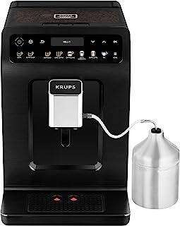 Krups 克鲁伯 EA8948 Evidence Plus 全自动咖啡机,新型XL OLED彩色显示屏,Barista Quattro Force技术,可制备16种咖啡饮品/3种茶饮品,一键式卡布奇诺咖啡功能,金属材质/黑色