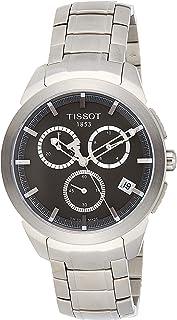 Tissot 男式石英 T0694174406100 钛灰色表盘计时腕表