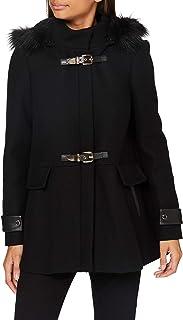 Morgan 女士 Manteau Caban Boucles Métal Capuche Gcalis 羊毛混纺大衣