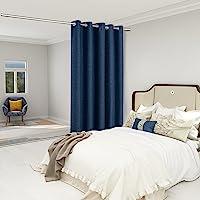 LORDTEX 粗麻布亚麻外观纹理房间分隔窗帘 - 隐私厚厚宽孔窗帘,适用于卧室客厅露台滑动门,6 英尺宽 x 7 英尺…