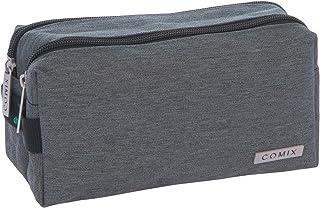 Comix 笔袋 2 个拉链袋 灰色