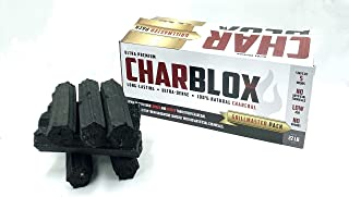 CHARBLOX XL Grillmaster 木炭原木 - * 天然,可持续 5 小时,环保,适用于烧烤/烧烤/吸烟/大绿鸡蛋/Kamado/陶瓷烧烤/烧水壶烧烤/Robata,Binchotan 替代品(22 磅)