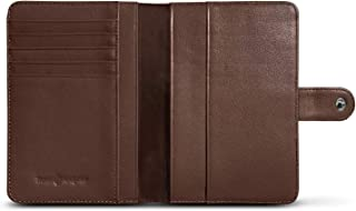 RFID Blocking Leather Travel Passport Holder With Snap, Bifold Wallet For Men And Women, Black or Brown
