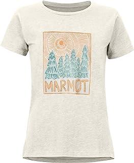 Marmot 土拨鼠 女士 Woodblock T恤