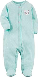 Carter's 女婴兔子按扣棉睡衣和玩耍