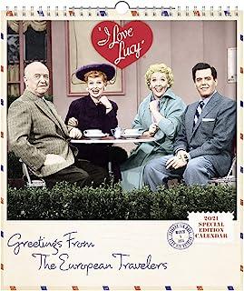2021 I Love Lucy 挂历,特别版,33.02 厘米 x 38.10 厘米,月度 (DDSE9028)