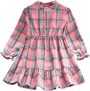 Balatale 幼儿女婴服装棉混纺女孩服装适合 2-9 岁女孩