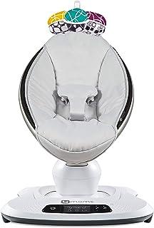 4moms mamaRoo 4 蓝牙功能高科技婴儿秋千 - 经典尼龙面料,具有 5 种独特动作