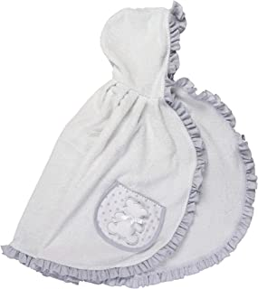 FILET 女童浴袍,灰色 - 300克