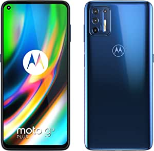 Motorola 摩托罗拉 Moto G9 Plus - 智能手机 128GB,4GB RAM,双Sim,靛蓝