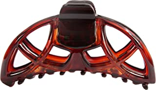 Caravan Global Design Slip and Water Proof Non Metal Hair Claw in Tortoise Shell, 0.5 Ounce