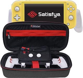 满意 - 新款 SwitchGrip Lite Elite 套装,配件兼容 Nintendo Switch Lite - 套装包括:开关握把、精英手机壳、低调 A-C USB 电缆。 附赠:2 根拇指棒