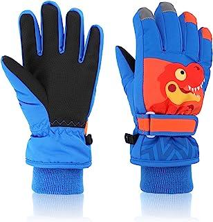 滑雪手套 Yidomto 冬季防水保暖触摸屏雪手套 男款 女款 男孩 女孩 儿童
