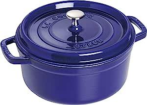 STAUB 珐宝 Cocotte 圆形26厘米锅 深蓝色