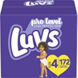 尿布尺寸 4,172 片 - Luvs Ultra Leakguards 一次性婴儿纸尿裤,一个月供应量