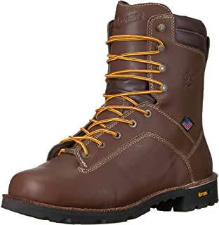"""Danner Quarry USA 8"""" 棕色工作靴"""