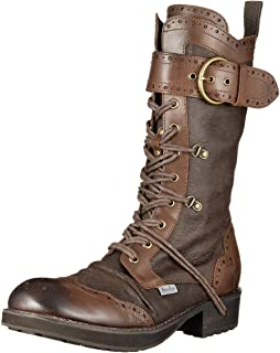 [YOSUKE] 靴子 绑带中筒靴 2801301 2800301