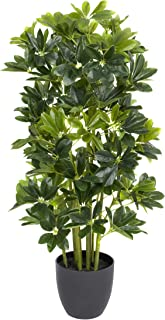 GreenBrokers 人造 95 厘米 Schefflera 雨伞植物黑锅 A1163