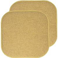 Sweet Home 系列椅垫*泡沫垫蜂窝图案防滑橡胶背面圆形方形 40.64 厘米 x 40.64 厘米座椅套,2 件…