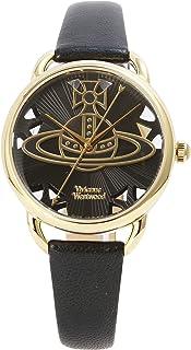 [维维安·韦斯特伍德]Vivienne Westwood 腕表 LEADENHALL 黑色表盘 黑色皮革 石英 VV163BKBK 女士