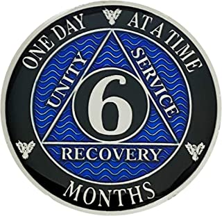Simply Minimal AA 6个月镀银硬币,酒精匿名*章