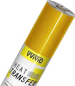 VVIViD V2 专业 HTV 传热膜熨烫乙烯卷 金色 3ft x 12in newv2htv_gld3