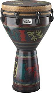 REMO雷莫 Djembe MONDO(TM) Designer系列 非洲鼓 栓式调音 14 英寸x 25 英寸 SKYNDEEP® 轮廓校正支架 阿丁卡处理