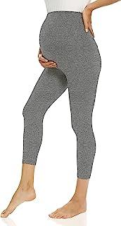 V VOCNI 孕妇打底裤,适合孕妇、锻炼、瑜伽裤、运动服、弹力打底裤, G-Capri 灰色, Small