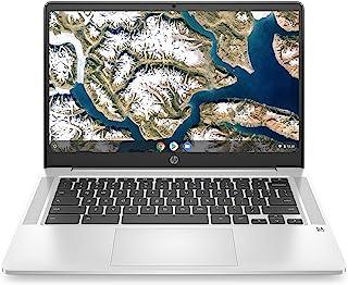 2020 旗舰版 HP 14 Chromebook 笔记本电脑 14 英寸高清 SVA 防眩光显示屏 Intel Celeron 赛扬 N5000 处理器 4GB DDR4 64GB eMMC 背光 WiFi 网络摄像头镀铬操作系统