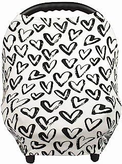 哺乳巾 - 哺乳巾 - 婴儿汽车座椅遮蓬、购物车、婴儿车、男女宝宝汽车座椅套 - 心形 - 爱心