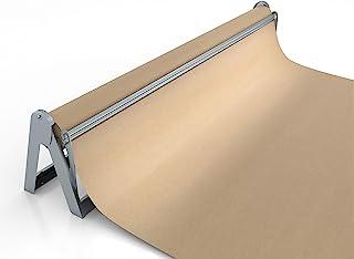 卷纸机和切纸器 - 长 36 英寸卷纸架 - 优质的屠夫纸分配器,包装纸切割器,工艺纸架或乙烯基卷纸架 - 可壁挂