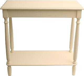 Décor *控制台桌,28.5 英寸宽 x 11.8 英寸深 x 28 英寸高,复古白色