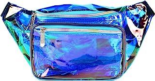SoJourner 全息剃须刀包 - 适合节日女士,男士可爱时尚腰包皮带包 Transparent - Blue One_Size