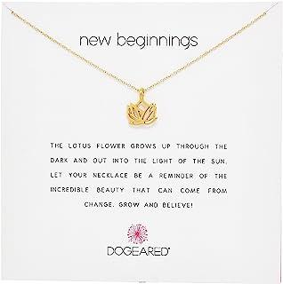 "Dogeared 朵吉兒 Reminder""New Beginnings""""崭新的开始系列"" 莲花吊坠"