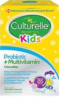 Culturelle 康萃乐 儿童益生菌&完整多种维生素咀嚼片   包含维生素C和锌  30片