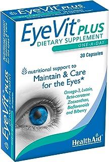 HealthAid EyeVit Plus - Omega 3,叶黄素,玉米黄质 - 30 粒胶囊