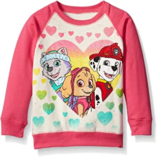Paw Patrol Girls' Skye, Everest, and Marshall Hearts French Terry Sweatshirt