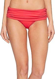 LAUREN RALPH LAUREN 纯色抽褶时尚比基尼底裤,红色 14