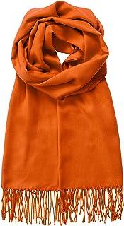 MBJ 女式披肩和披肩优雅羊绒围巾时尚保暖毯纯色冬季围巾