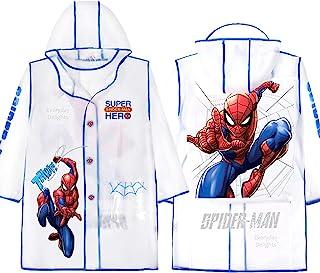Marvel 蜘蛛侠连帽雨衣防雨夹克斗篷外套男童儿童 EVA
