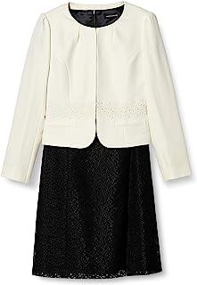 [B-GALLERY] 名流媒体 短袖衫《2色 7号~13号》无领夹克 & 连衣裙 女士正装 2件套
