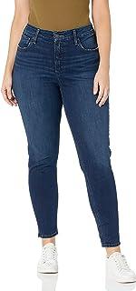 Silver Jeans Co. 女士加大码 Avery 曲线修身高腰紧身牛仔裤