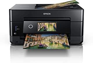 EPSON 爱普生 Expression Premium XP-7100 三合一多功能打印机(扫描,复印,WiFi,以太网,双面,双面ADF,单墨盒,5色,DIN A4,Amazon Dash补货功能),黑色