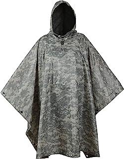 USGI Industries 军事斗篷应急帐篷 多用途防撕裂迷彩生存雨披