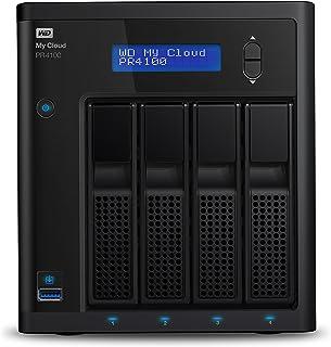 Western Digital 西部数据 My Cloud Pro 系列 PR4100 网络附加存储卡,无盘-NAS-WDBNFA0000NBK-NESN,黑色