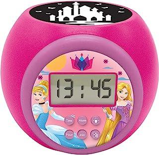 Lexibook RL977DP 投影仪闹钟 迪士尼公主 带贪睡功能和闹钟功能 夜灯带定时器,LCD 屏幕,电池,蓝色