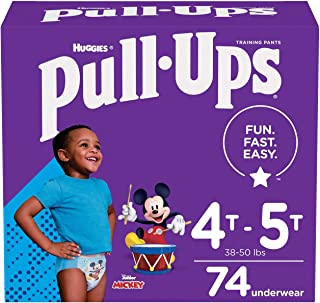 Pull-Ups Training Pants for Boys Learning Designs 4T-5T, 74 Count 74